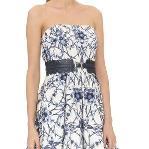 NWT Marchesa Notte strapless dress with belt sz 8